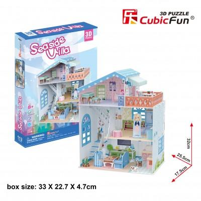 Cubic-Fun-P683h Puzzle 3D - Seaside Village (Difficulté: 4/6)