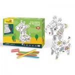 Cubic-Fun-P696h Puzzle 3D - Girafe à Colorier
