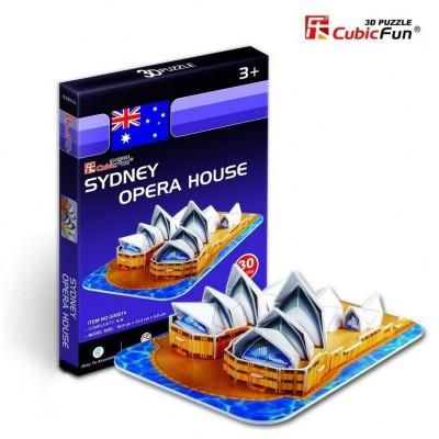 Cubic-Fun-S3001H Puzzle 3D Série Mini - Australie : Opéra de Sydney (Difficulté 2/8)