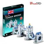 Cubic-Fun-S3010H Puzzle 3D Série Mini - Royaume Uni : Tower Bridge de Londres (Difficulté 2/8)