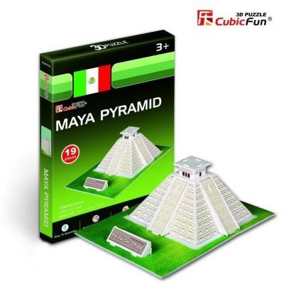 Cubic-Fun-S3011H Puzzle 3D Série Mini - Pyramide Maya (Difficulté 2/8)