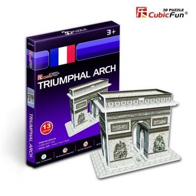 Cubic-Fun-S3014H Puzzle 3D Série Mini - France, Paris : Arc de Triomphe (Difficulté 2/8)