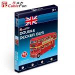 Cubic-Fun-S3018H Puzzle 3D Série Mini - Bus Londonien (Difficulté 2/8)