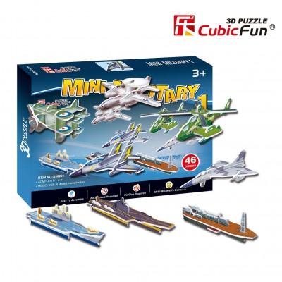 Cubic-Fun-S3022H Puzzle 3D Série Mini - Véhicules militaires (Difficulté 2/8)