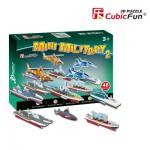 Cubic-Fun-S3023H Puzzle 3D Série Mini - Véhicules militaires (Difficulté 2/8)