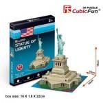 Cubic-Fun-S3026h Puzzle 3D Mini - Statue de la Liberté - Difficulté : 2/8