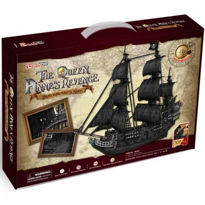 Cubic-Fun-T4018H Puzzle 3D - The Queen Anne's Revenge - Difficulté : 8/8