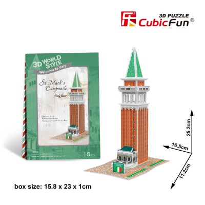 Cubic-Fun-W3116H Puzzle 3D World Style - Welcome to UK