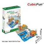 Cubic-Fun-W3185h Puzzle 3D - 3D World Style - Italie - Difficulté: 4/6