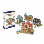 Cubic-Fun-W3186h Puzzle 3D - 3D World Style - Royaume Uni - Difficulté: 4/6