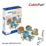 Cubic-Fun-W3187h Puzzle 3D - 3D World Style - France - Difficulté: 4/6