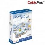 Cubic-Fun-W3188h Puzzle 3D - 3D World Style - Grèce - Difficulté: 4/6