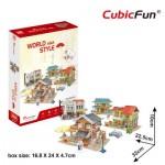 Cubic-Fun-W3190h Puzzle 3D - 3D World Style - Asie - Difficulté: 4/6