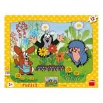Dino-30304 Puzzle Cadre - La Petite Taupe