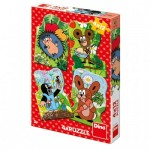 Dino-33316 4 Puzzles - La Petite Taupe