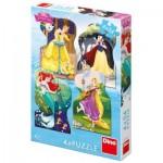 Dino-33318 4 Puzzles - Disney Princess
