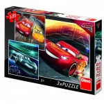 Dino-33524 3 Puzzles - Cars 3