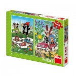 Dino-38157 2 Puzzles - La Petite Taupe
