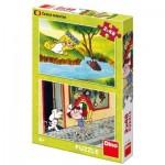 Dino-38158 2 Puzzles - Fairy Tales