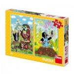 Dino-38160 2 Puzzles - La Petite Taupe