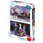 Dino-38613 2 Puzzles - La Reine des Neiges