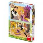 Dino-38616 2 Puzzles - Disney Tangled