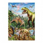 Dino-39415 Puzzle Néon - Dinosaures