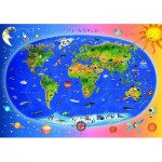 Dino-47213 Carte du Monde pour Enfants (en anglais)
