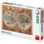 Dino-50230 Carte du Monde, 1626