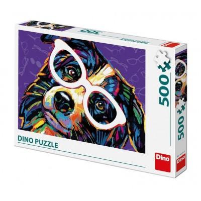 Dino-50235 Chien avec des Lunettes
