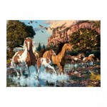 Dino-532649 Secret Puzzle - Chevaux