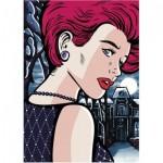 Dino-53271 Pop Art - Mysterious Woman