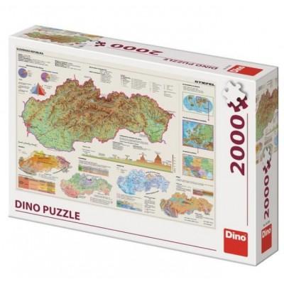 Dino-56120 Carte de la Slovaquie