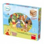 Dino-64116 Puzzle Cubes en Bois - Winnie l'Ourson