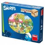 Dino-64123 Puzzle Cubes en Bois - Les Schtroumpfs