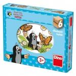 Dino-64312 Puzzle Cubes en Bois - La Petite Taupe