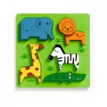 Djeco-01023 Puzzle en Bois - Incrocodible