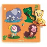 Djeco-01054 Puzzle en Bois - Mamijungle