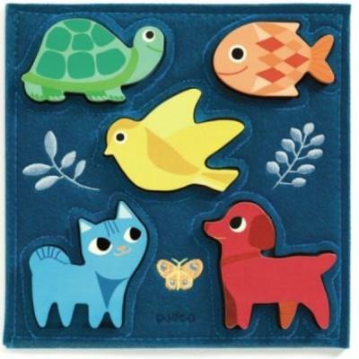 Djeco-01057 Puzzle en Bois - Gataki