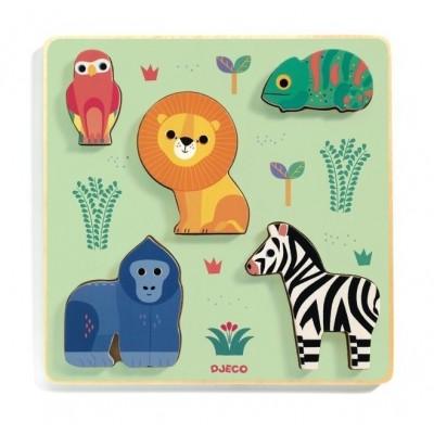 Djeco-01058 Puzzle en Bois - Emilion