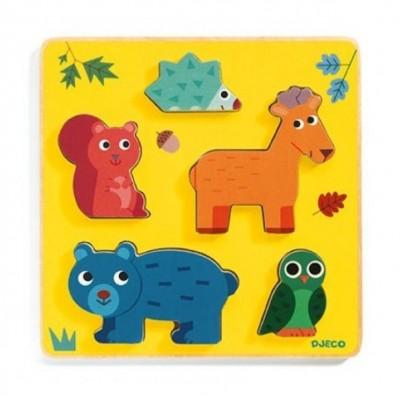 Djeco-01059 Puzzle en Bois - Frimours