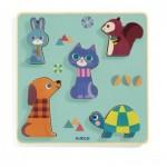 Djeco-01060 Puzzle en Bois - Moustacha