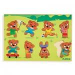 Djeco-01252 Puzzle en Bois - Teddymatch