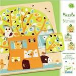 Djeco-01481 Puzzle en Bois - 3 Niveaux - Cabane dans les Arbres