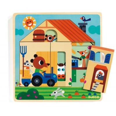 Djeco-01486 Puzzle en Bois - Chez Gaby