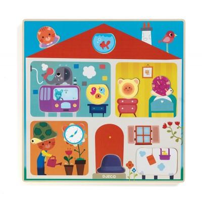 Djeco-01519 Puzzle en Bois - Swapy