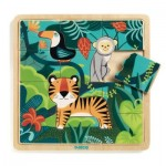 Djeco-01810 Puzzle en Bois - Jungle