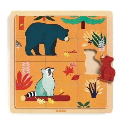Djeco-01811 Puzzle en Bois - Canada
