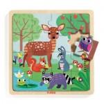 Djeco-01812 Puzzle en Bois - Forest