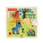 Djeco-01814 Puzzle en Bois - Puzzlo Farm